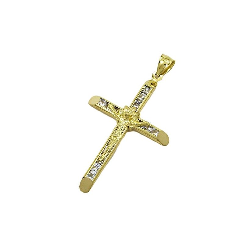 10K Yellow Gold unisex cross ASVJ68 62983 1