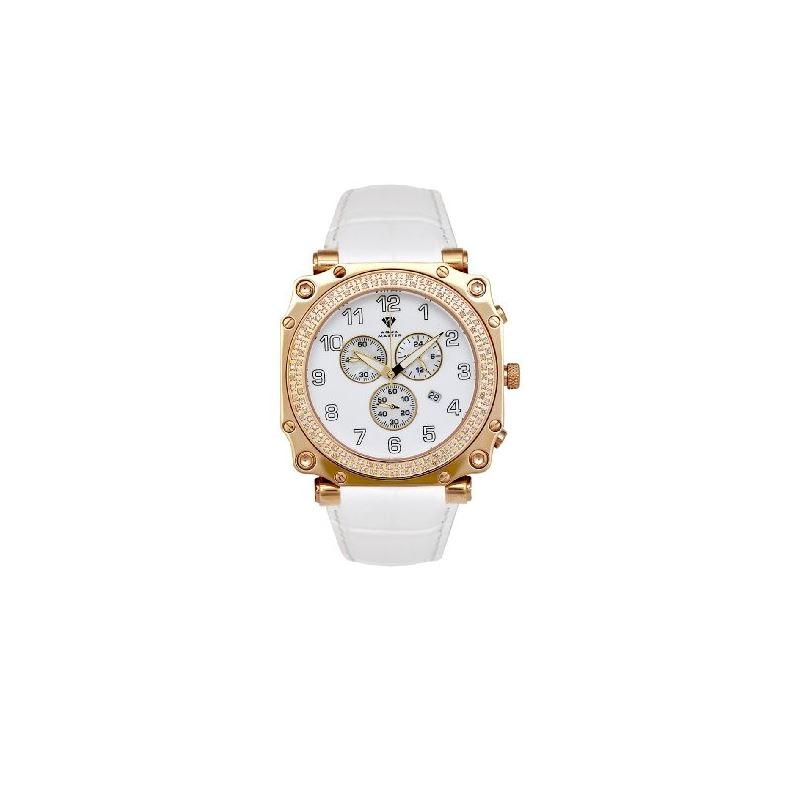 NEW! Men's Round Cargo Diamond Watch, 1.25 Ctw