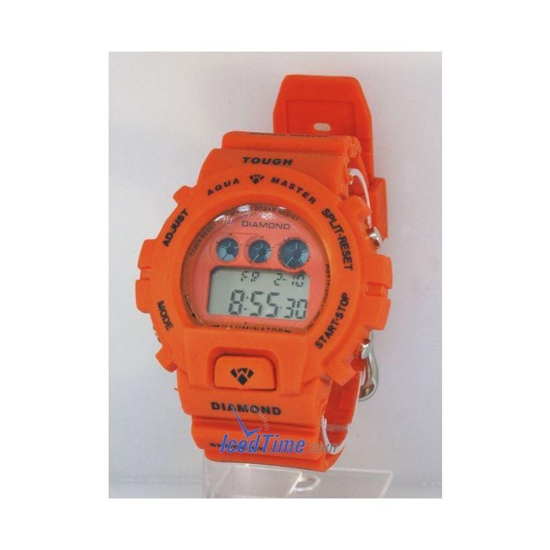 Aqua Master Shock Digital Watch Orange 27745 1