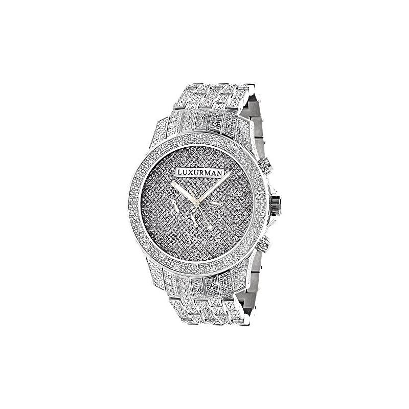 Mens LUXURMAN Watches: Real Diamond Watch 1.25Ct