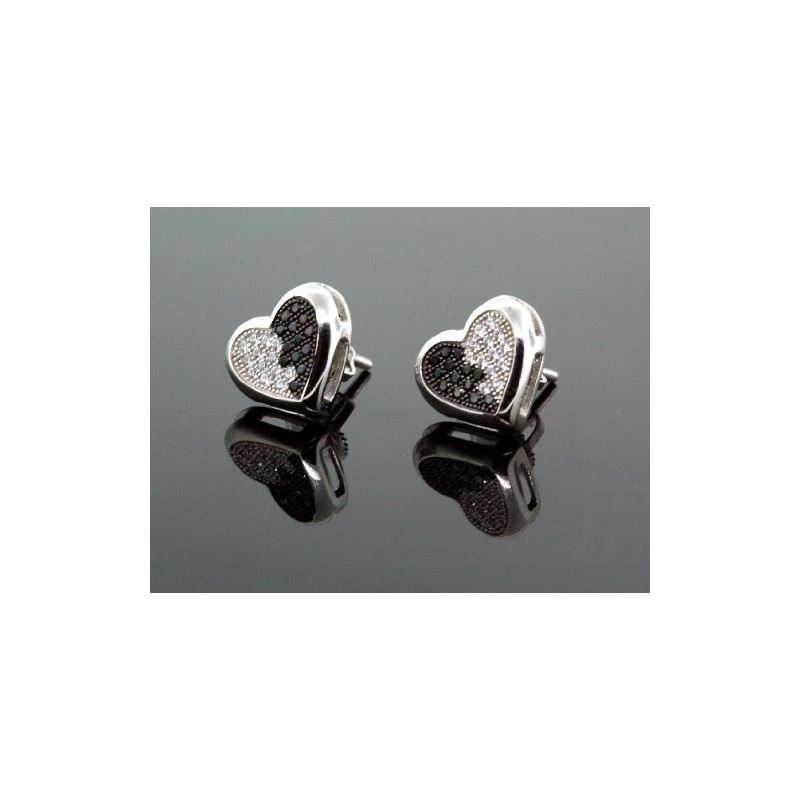 .925 Sterling Silver White Heart White a 58584 1