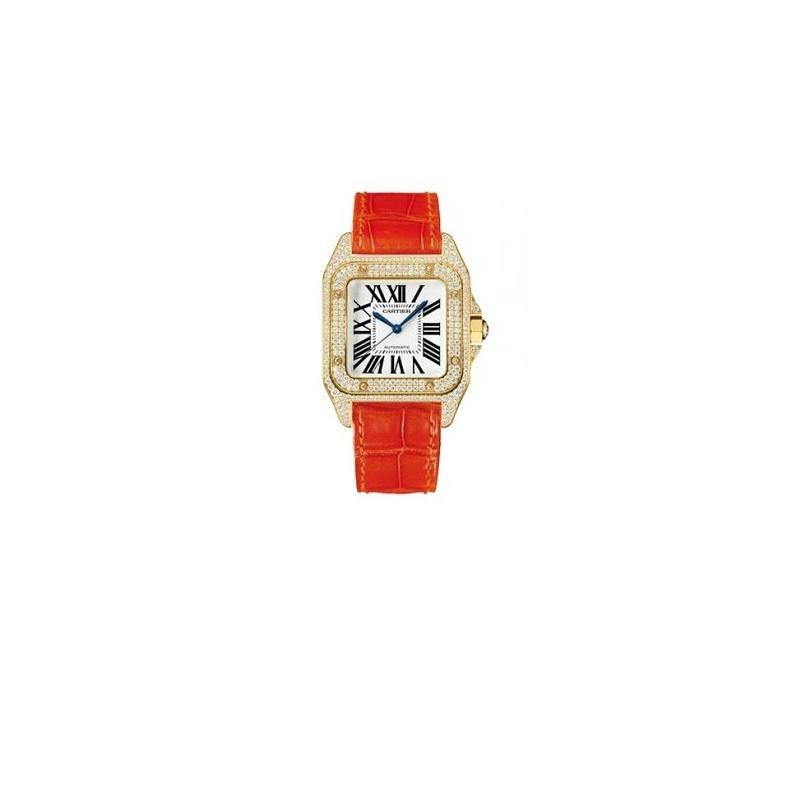 Cartier Santos 100 Diamond 18kt Yellow G 55221 1