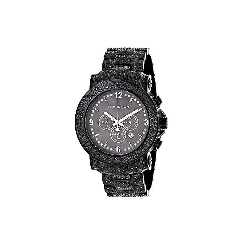 Black Diamond Watch For Men 2Ctw Of Diamonds By Fu