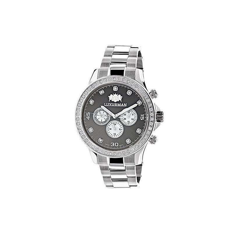 Genuine Diamond Watches For Men: 2Ct LUXURMAN Libe