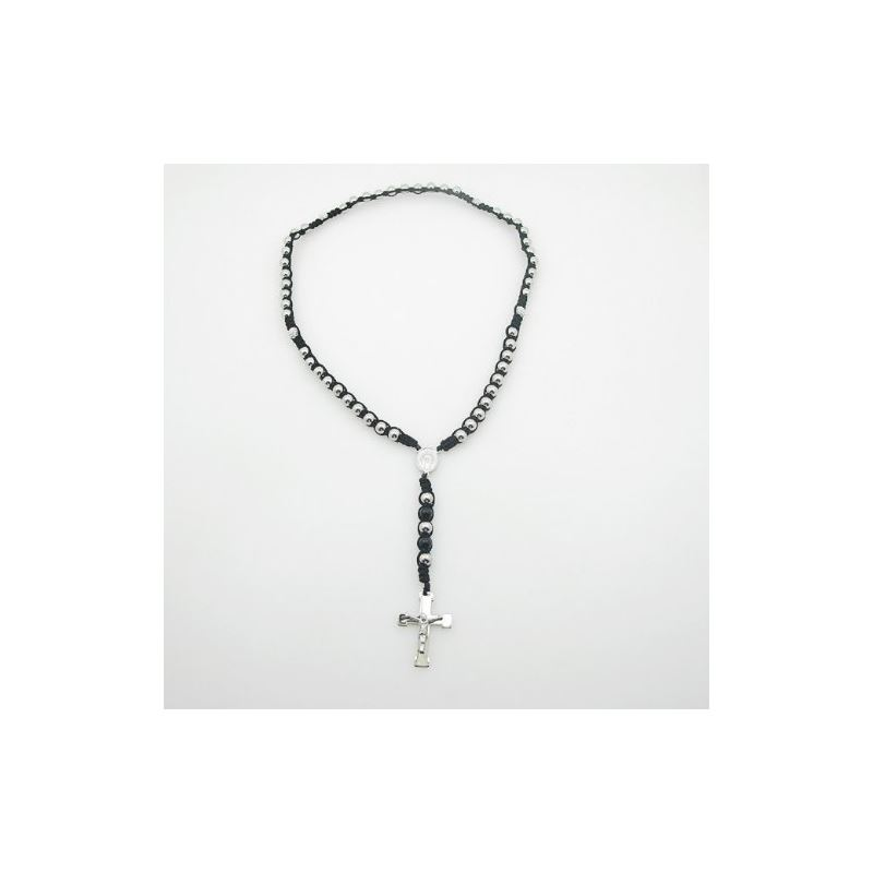 Stainless Steel Rosary Necklace with Cro 80178 1