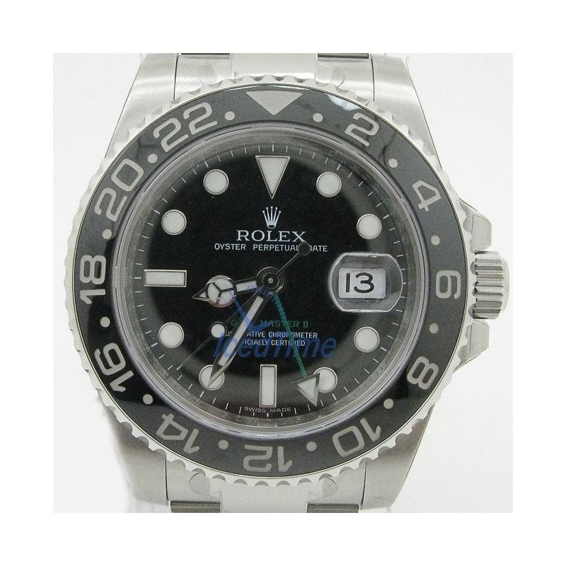 Rolex GMT Master II Black Index Dial Oys 53991 1