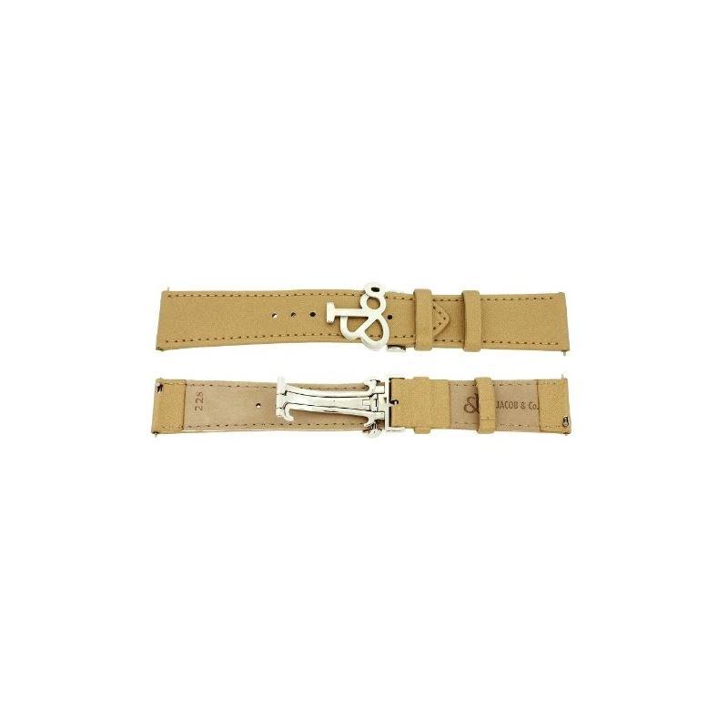 Jacob Co. Genuine Real Satin Gold Short Band Strap