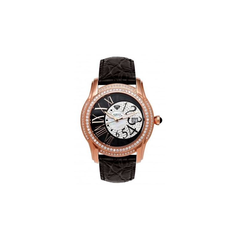 Aqua Master Mens Dual Time Diamond Watch 54537 1