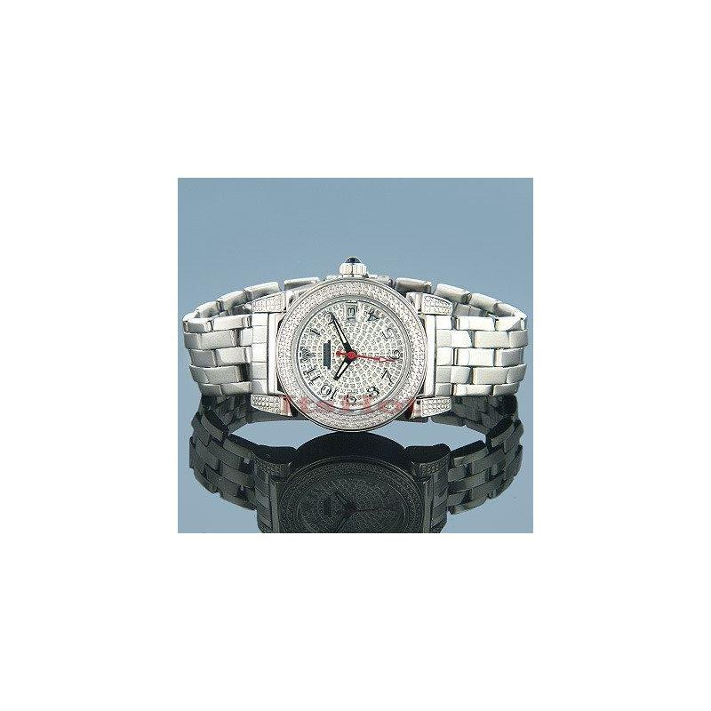 Women's Round Diamond Watch, 1.20 Ctw,Stainles