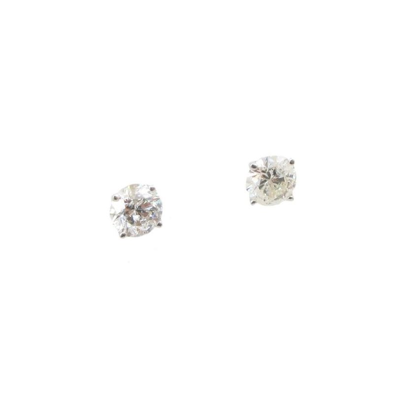Mens 14k White Gold 1.6ctw diamond Stud  78261 1