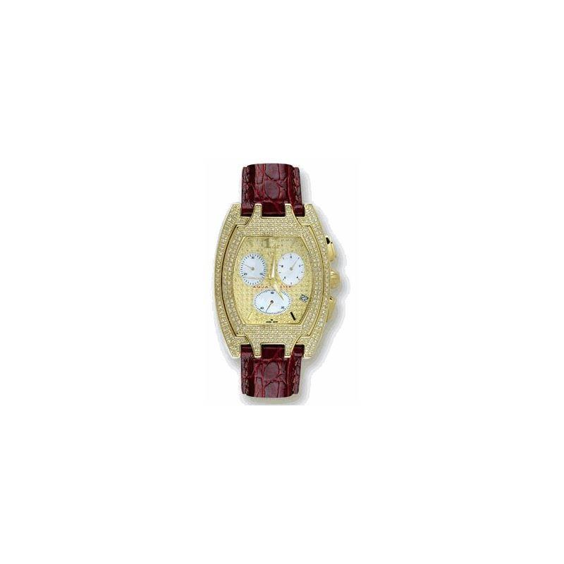Men's Fancy Diamond Watch, 3.50 Ctw
