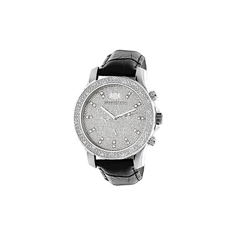 Mens Diamond Watch 0.25ct by Luxurman Bl 90896 1