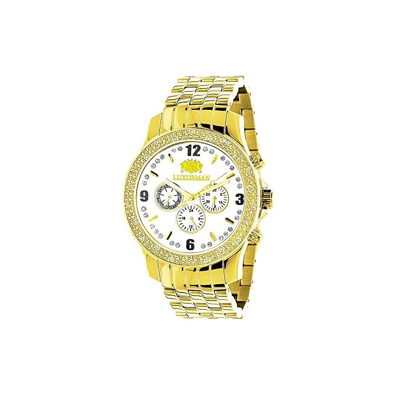 LUXURMAN Diamond Watches Mens Diamond Watch 0.25Ct