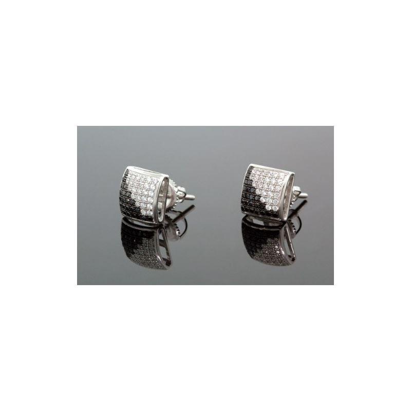 .925 Sterling Silver White Square White  58698 1