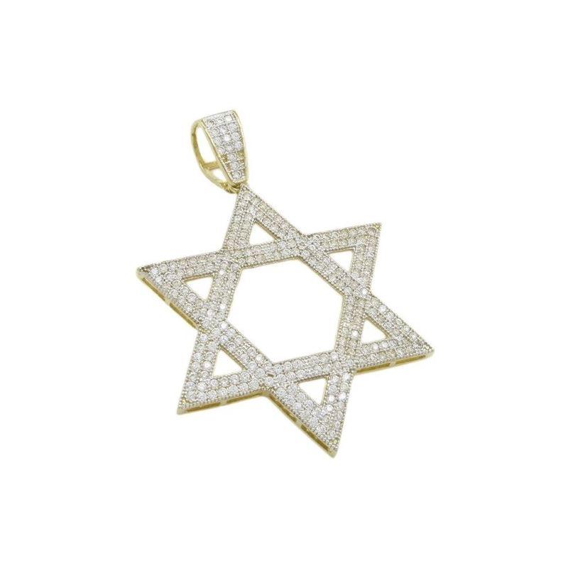 Mens 10k Yellow gold Star of david gold  78089 1