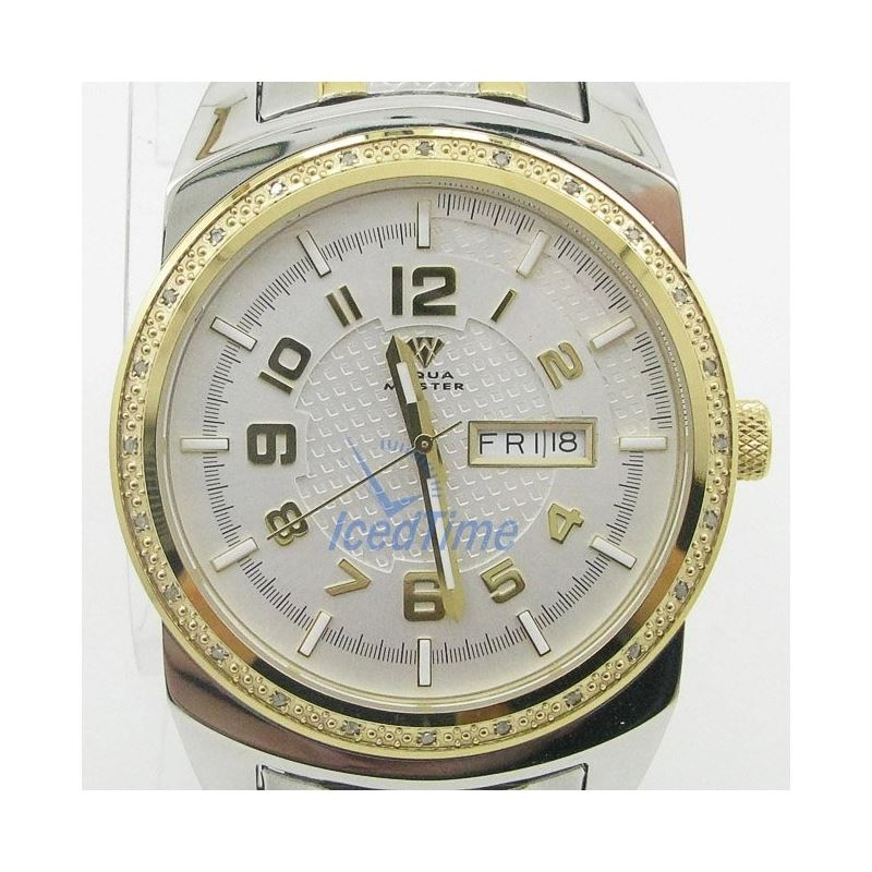 Mens Aqua Master Iced Out Diamond Watch  50538 1