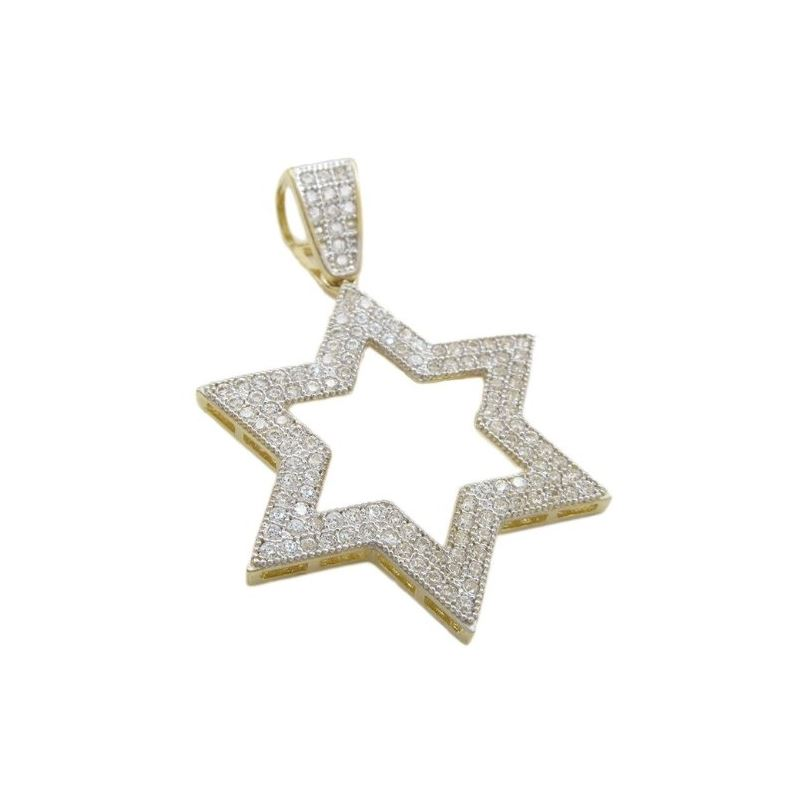 Mens 10k Yellow gold Outer star of david 77822 1