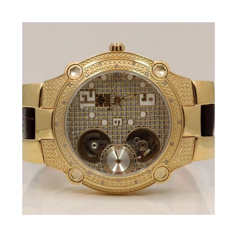 Aqua Master Mens Automatic Diamond Watch 49223 1