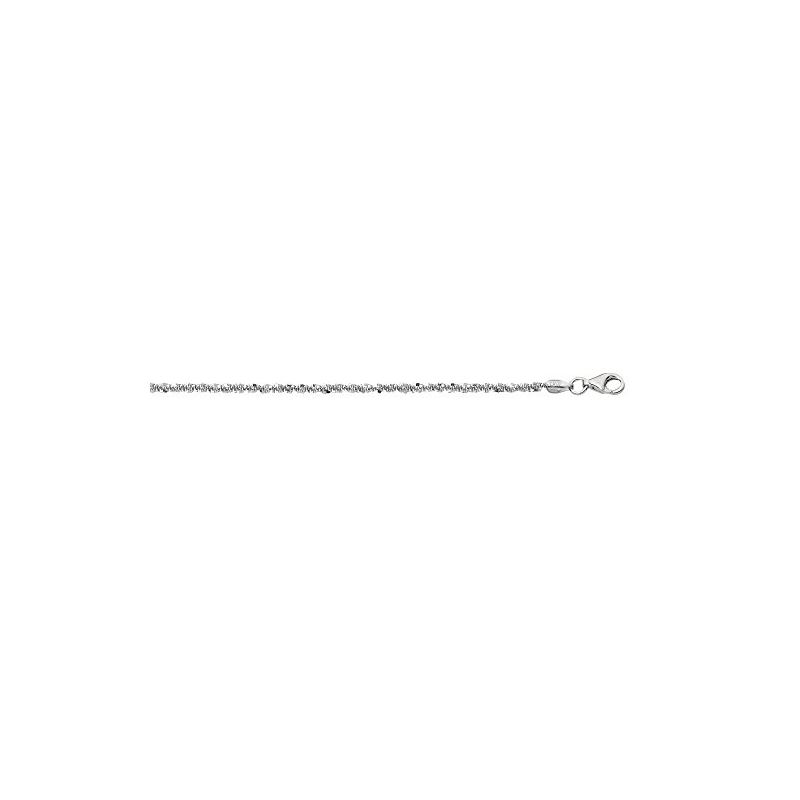 Sterling Silver 1.5 mm Wide Sparkle Chai 88312 1