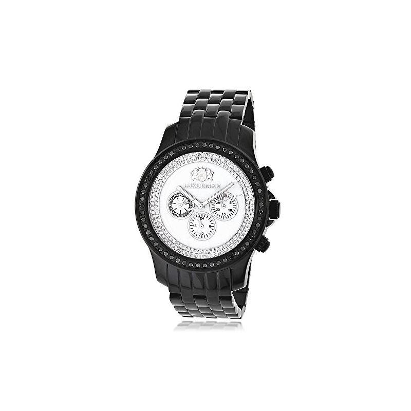 Black Genuine Diamond Watches: Luxurman  89625 1