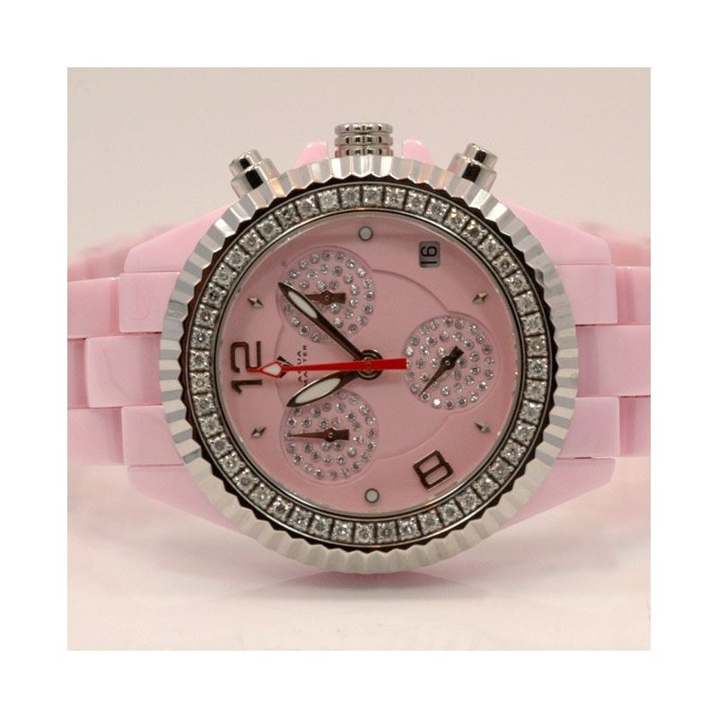 Aqua Master Ladies Ceramic Diamond Watch 53476 1