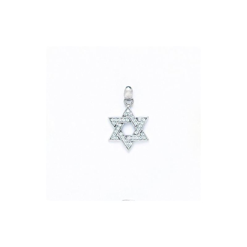 14K Gold Star Of David Pendant PW55 64433 1