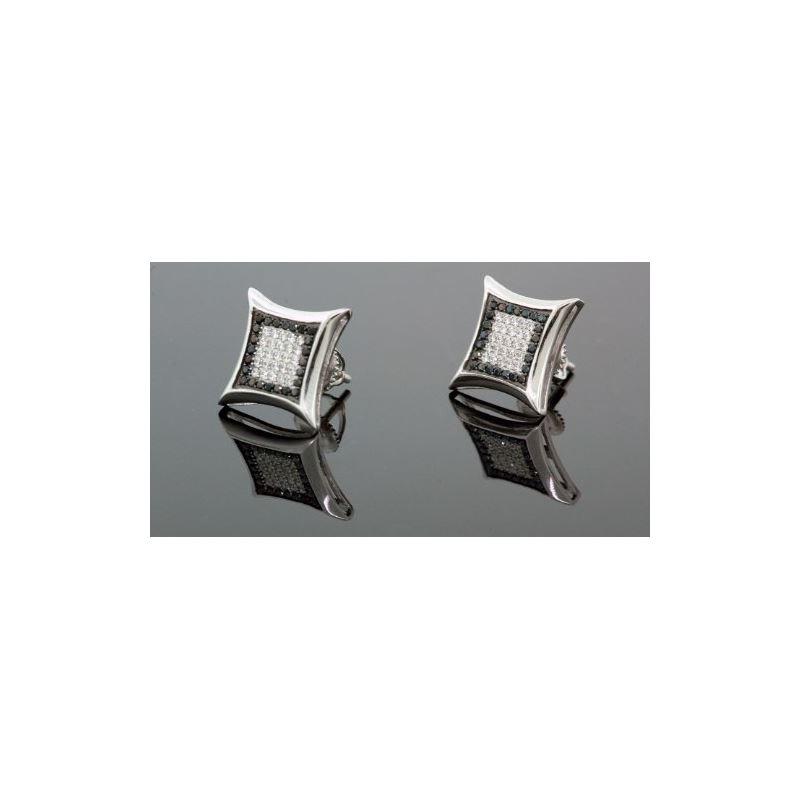 .925 Sterling Silver White Square White  58731 1