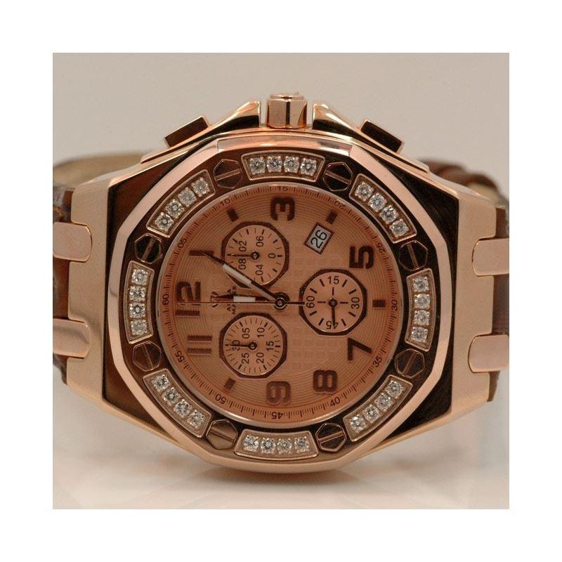 Aqua Master Royal Oak Mens Diamond Watch 49217 1