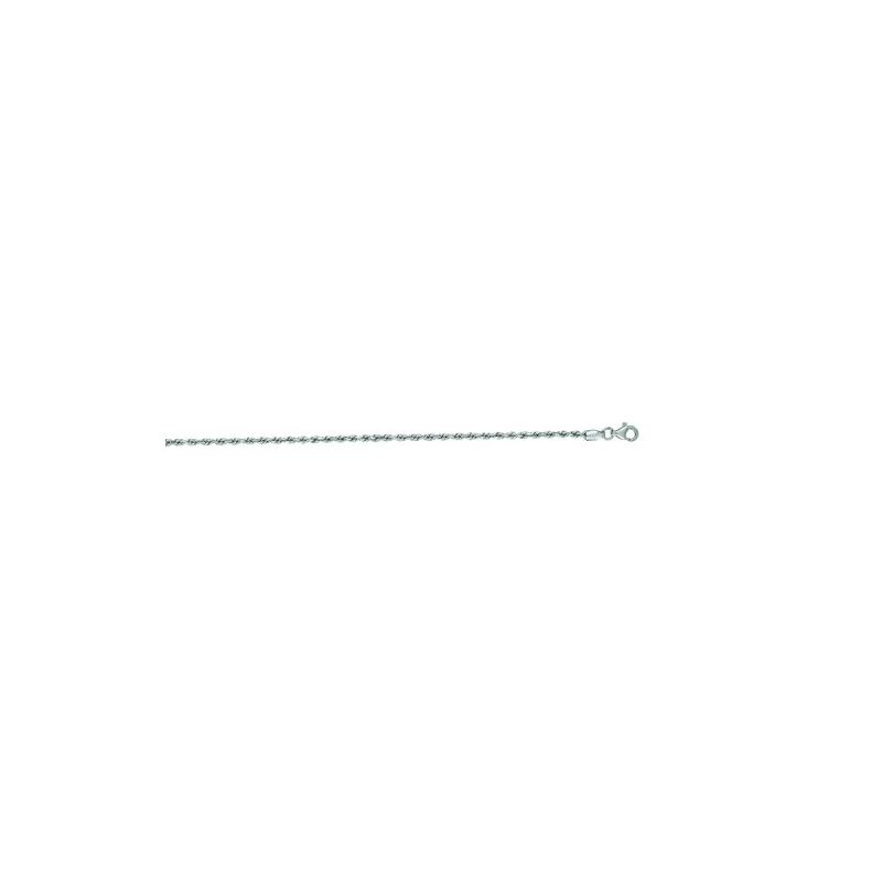 14K White Gold Solid Diamond Cut Rope Ch 65904 1