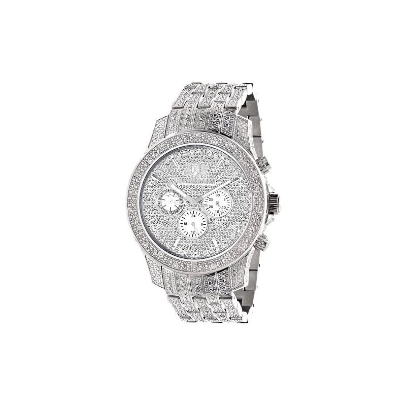 Iced Out Watch Chronograph Subdials Real 89939 1