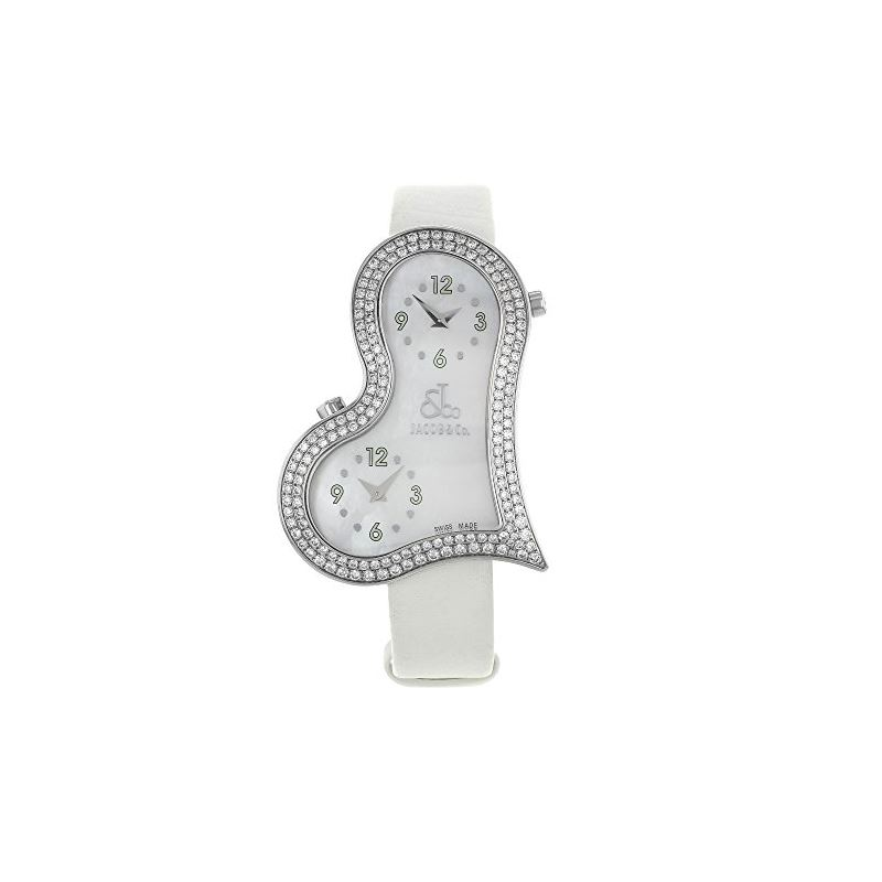 Jacob Co. Ladies Swiss Made Amore Heart Love Diamo