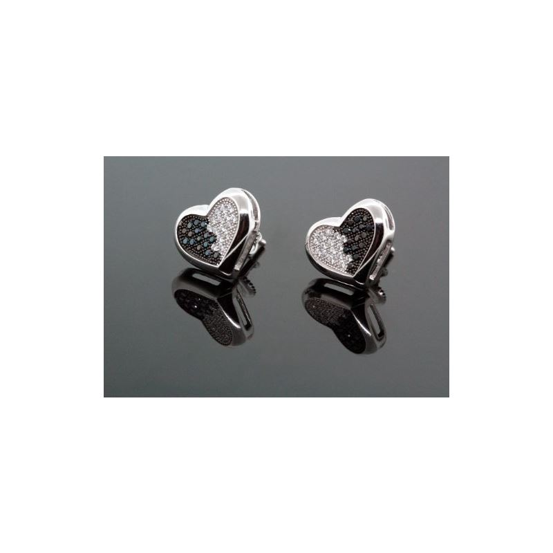 .925 Sterling Silver White Heart White a 58599 1