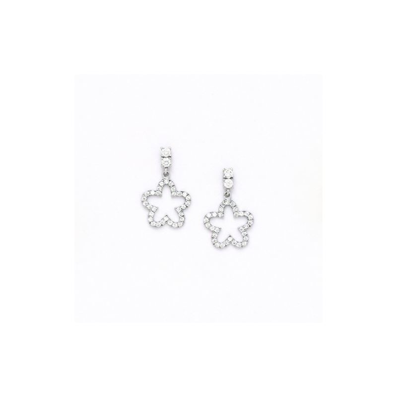 14K White Gold star oval drop shap with  66135 1