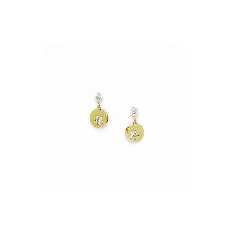 14K Yellow Gold star oval drop shap with 70568 1