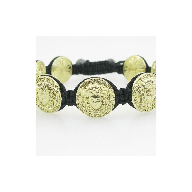 Yellow Greek style medusa string bracele 84775 1