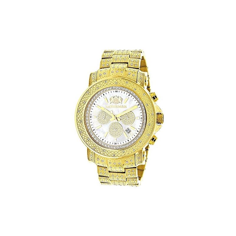 Luxurman Escalade Large Iced Out Mens Di 90182 1