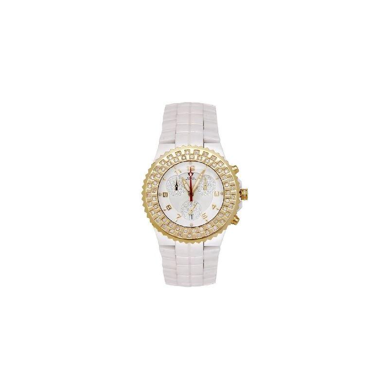 NEW! Ladies' Ceramic Diamond Watch, 1.25 Ctw-