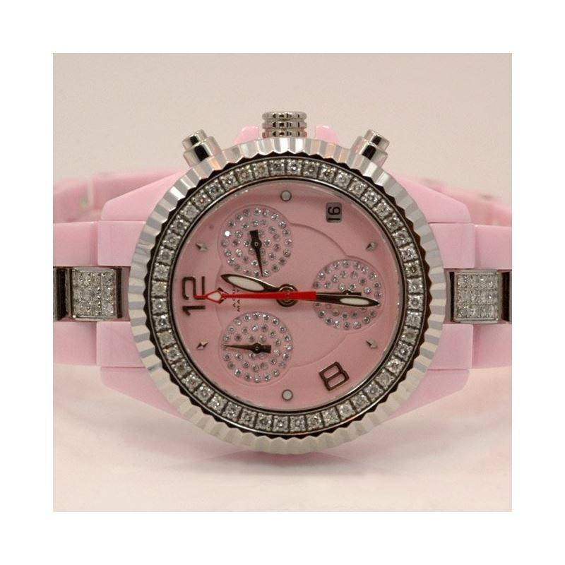 Aqua Master Ladies Ceramic Diamond Watch 53490 1