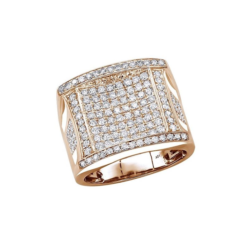 10K Gold Affordable Statement Mens Diamond Band Pi