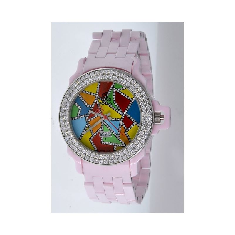 Jacob Co Ceramic Womens Diamond Watch JC 54242 1