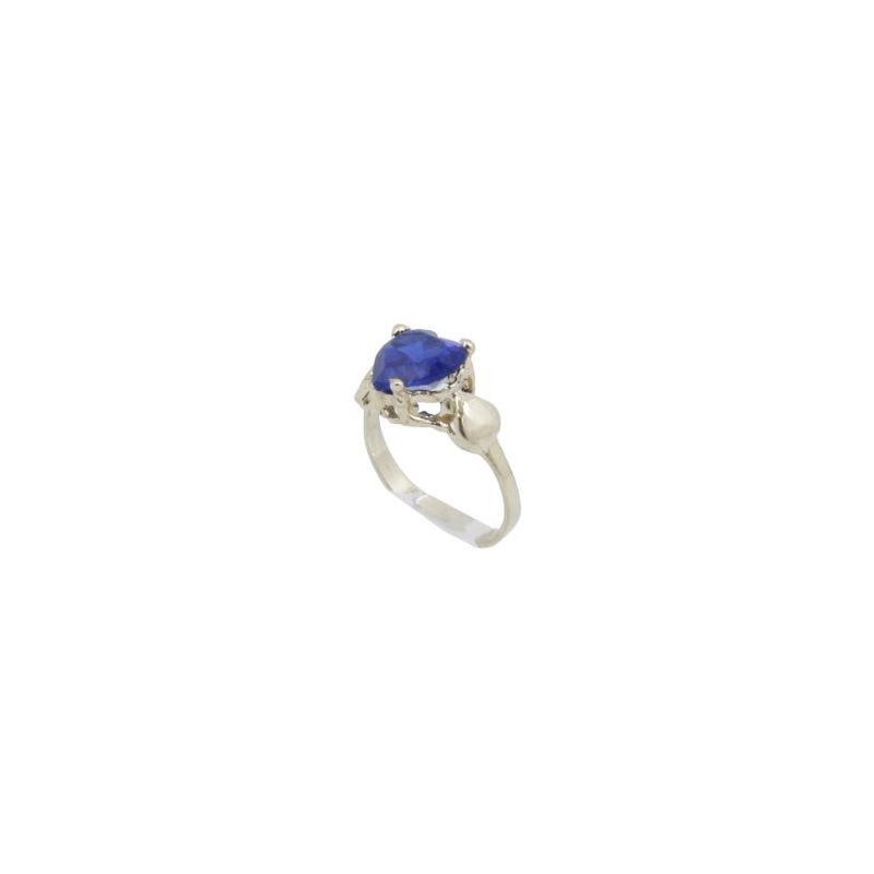 10k Yellow Gold Syntetic blue gemstone r 62106 1