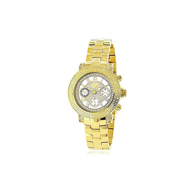 Ladies Luxurman Diamond Watch 0.30 ct Ye 89964 1