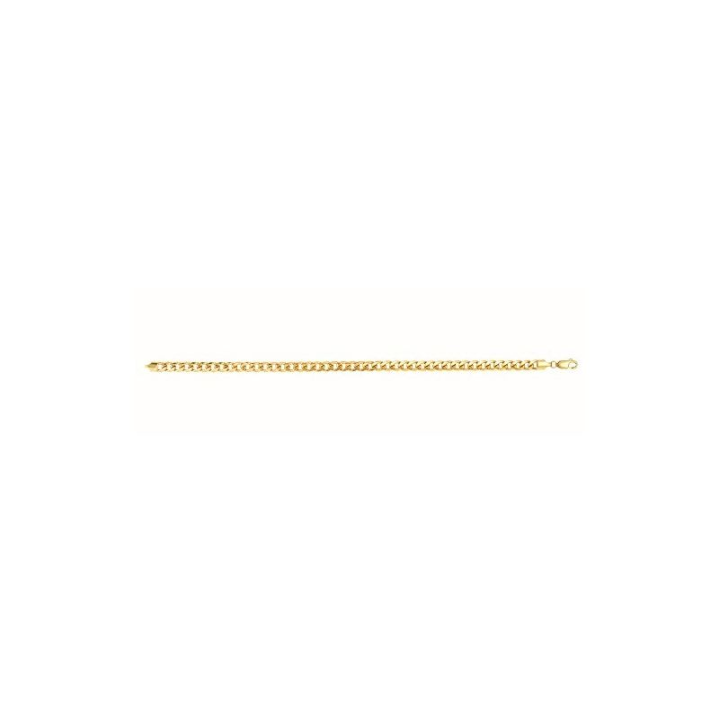 14K Yellow Gold 5.5Mm Wide Hollow Miami Cuban Link