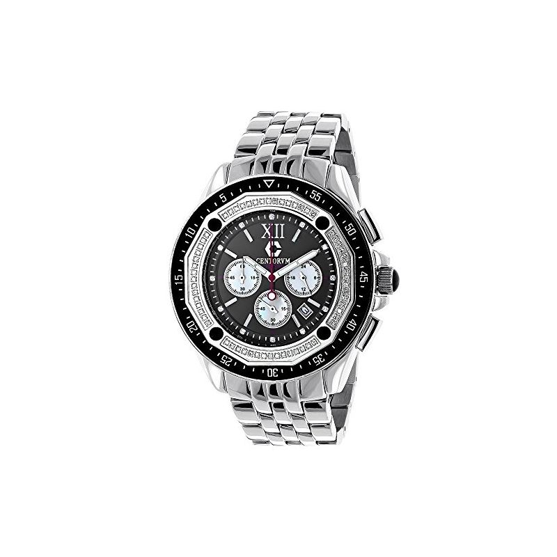 Centorum Real Diamond Watch Mens White M 89639 1