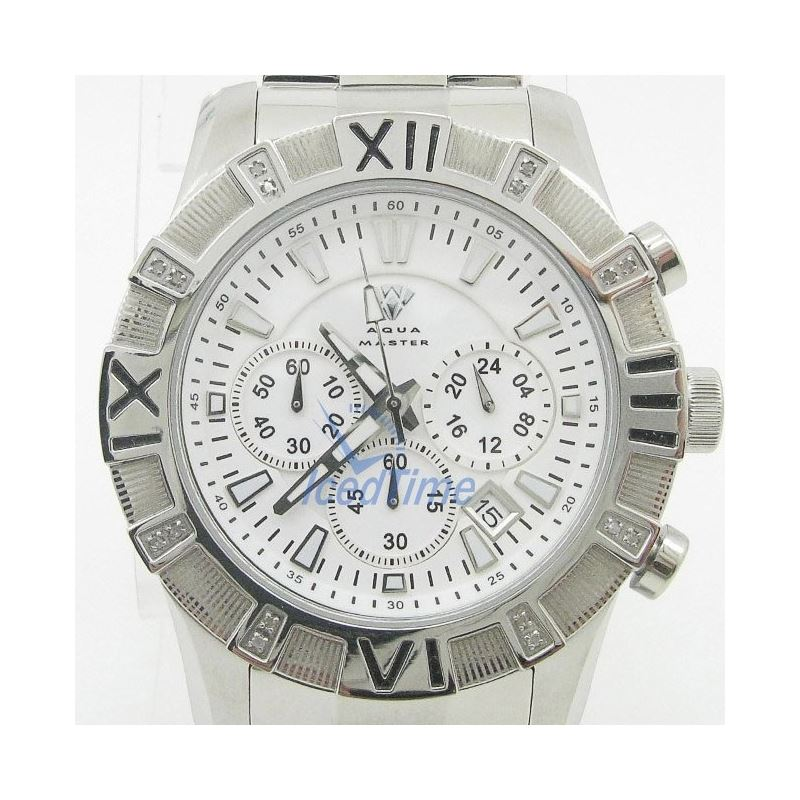 Mens Aqua Master Iced Out Diamond Watch  50615 1