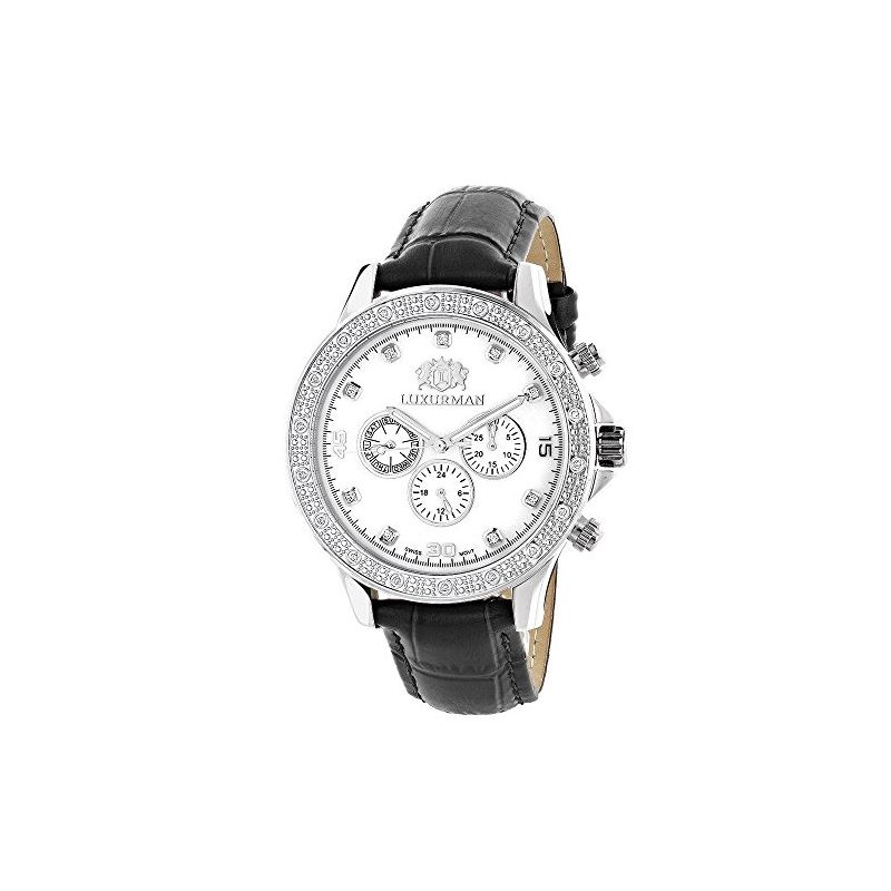 Luxurman Mens Diamond Watch 0.2ct Libert 90355 1