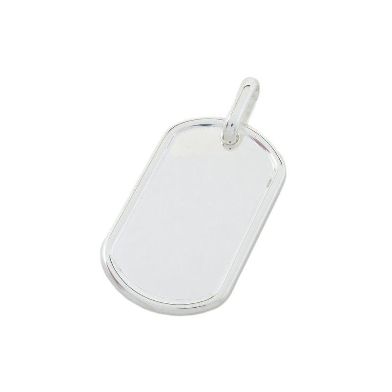 Plain dog tag pendant SB20 38mm tall and 79288 1