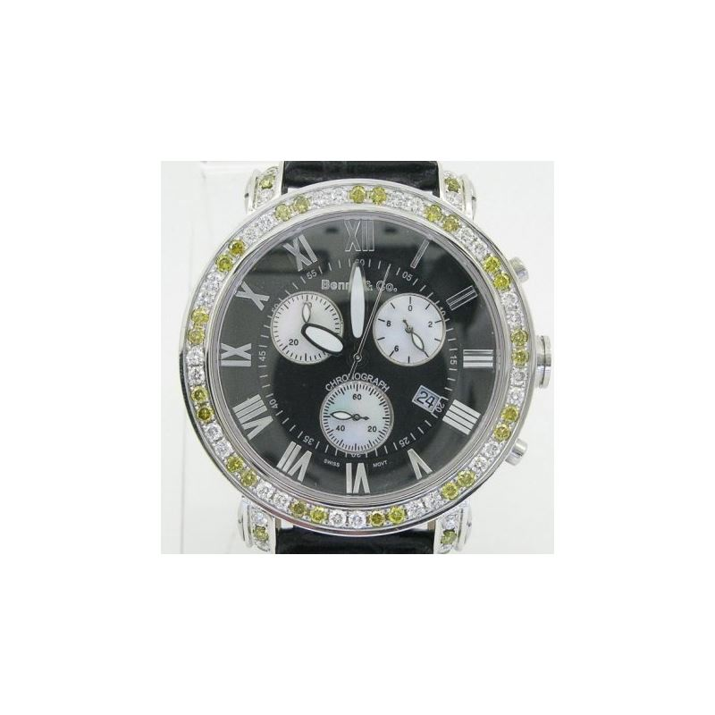 Yellow And White Benny Co Diamond Watch  89420 1