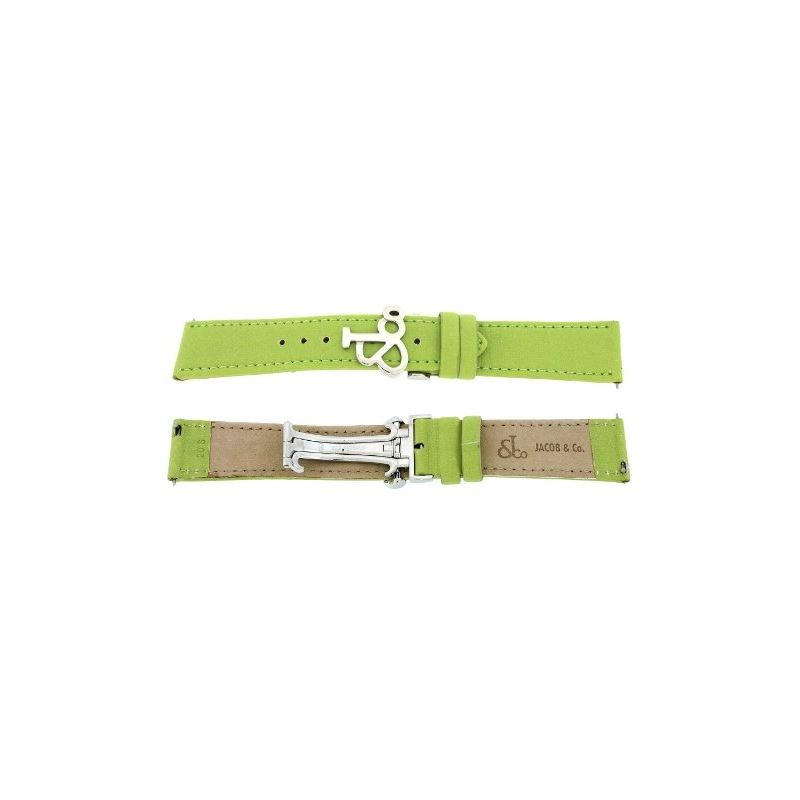 Jacob Co. Genuine Real Satin Green Short Band Stra
