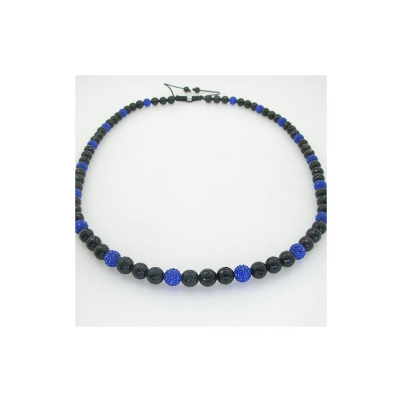 Mens beaded rosary chain crystal gemston 78650 1